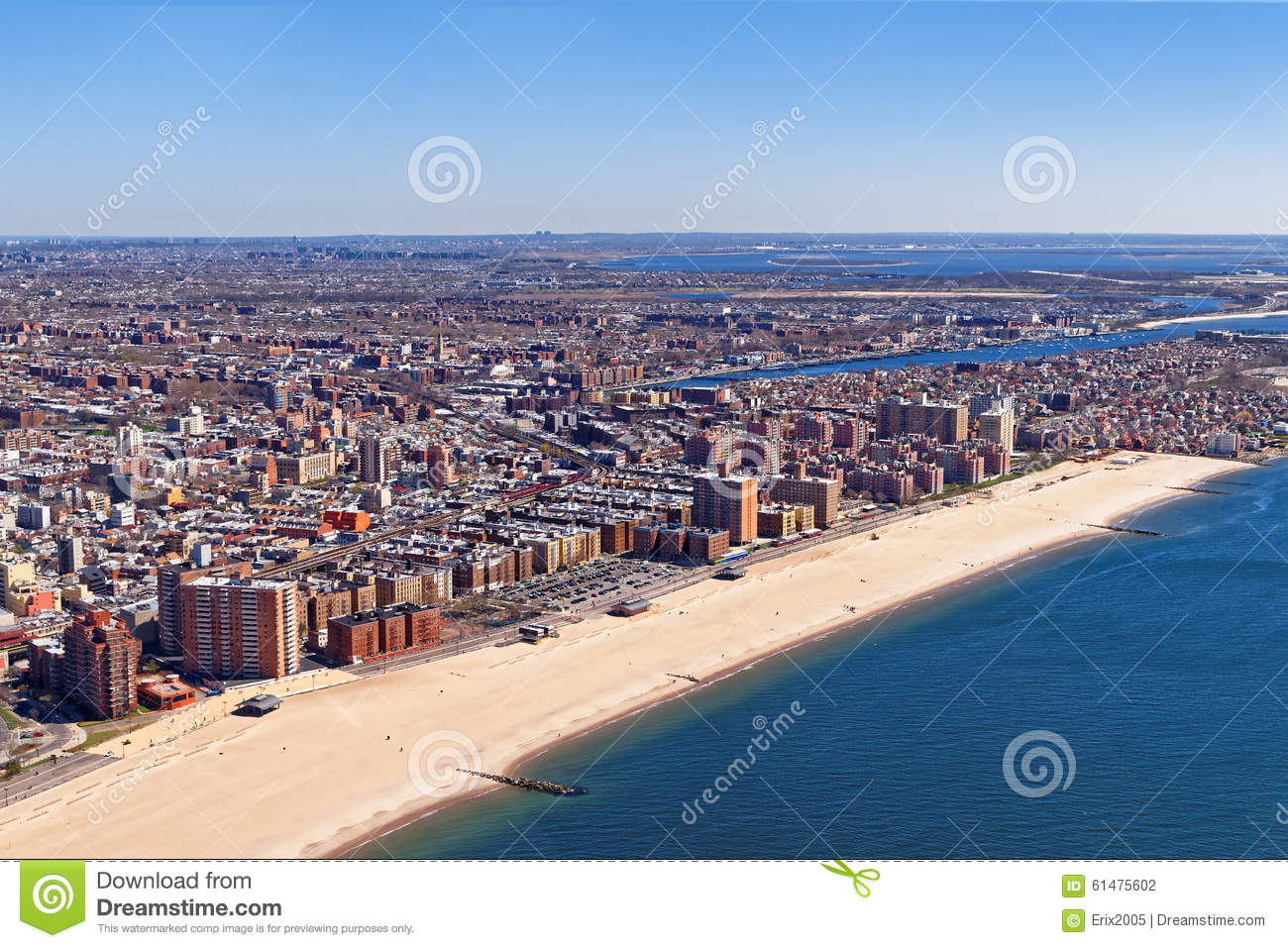 aerial view of long island in new york stock photo image of color coastline 61475602. Black Bedroom Furniture Sets. Home Design Ideas