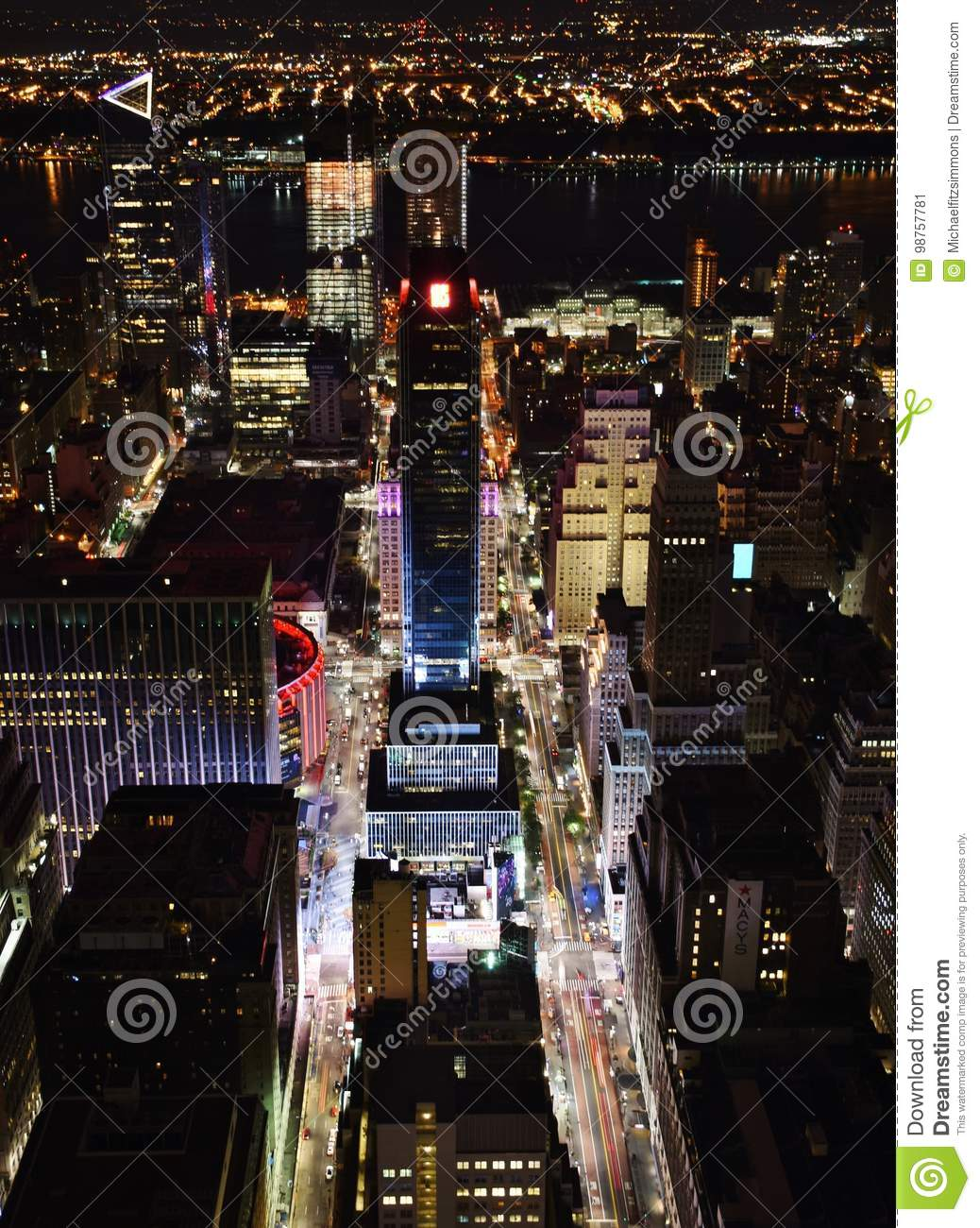 City Of Madisons Near West Side Is One >> Aerial View Of Madison Square Garden Editorial Photo Image Of