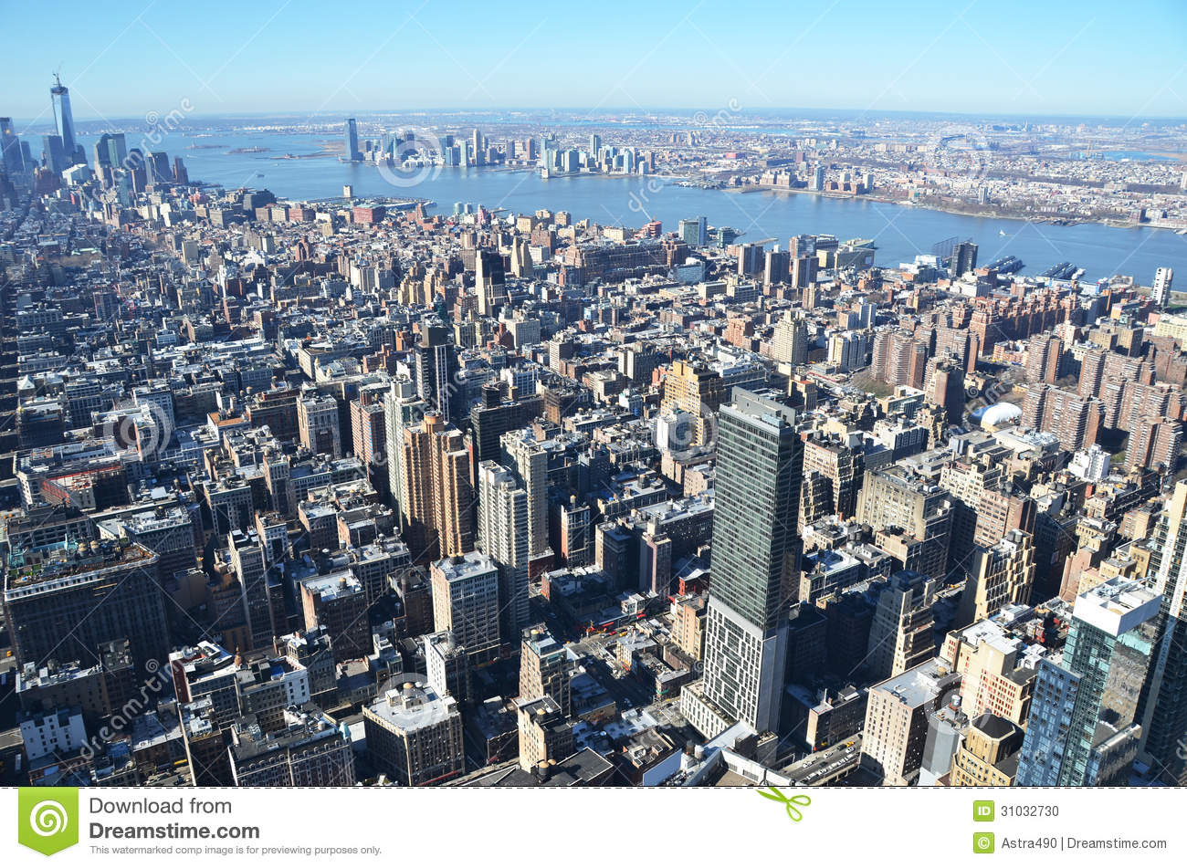Aerial View Of Manhattan Stock Photo - Image: 31032730
