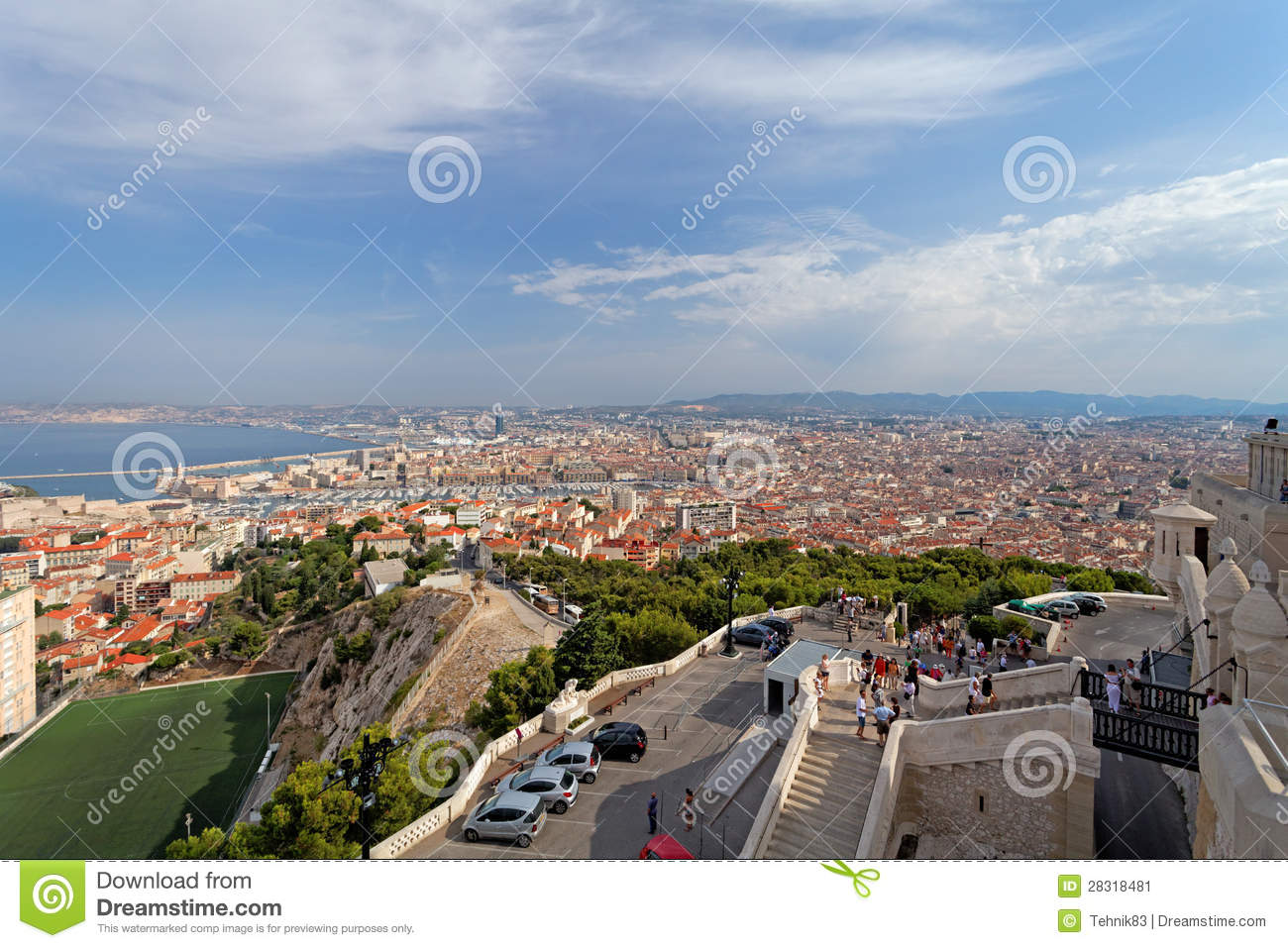 aerial panoramic view of marseille city france editorial. Black Bedroom Furniture Sets. Home Design Ideas