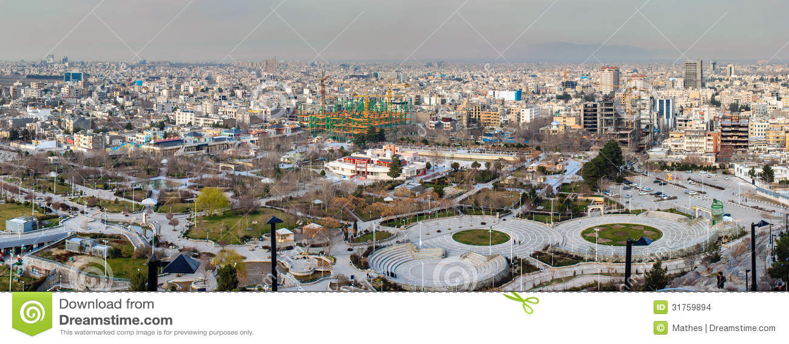Aerial view of Mashhad