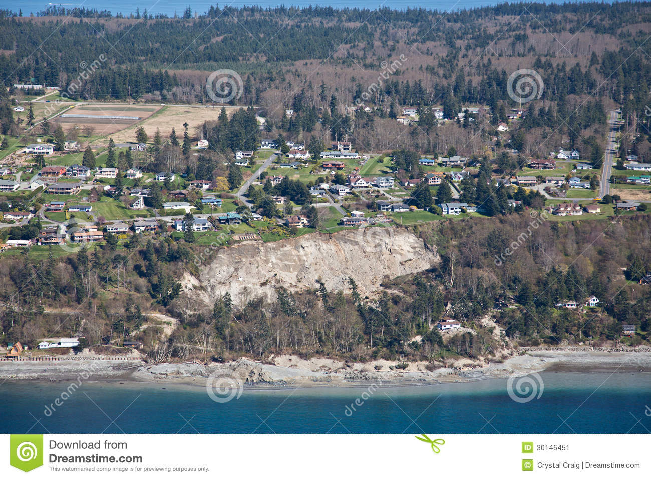 Whidbey Island Landslide Aerial Editorial Photo Image 30146451