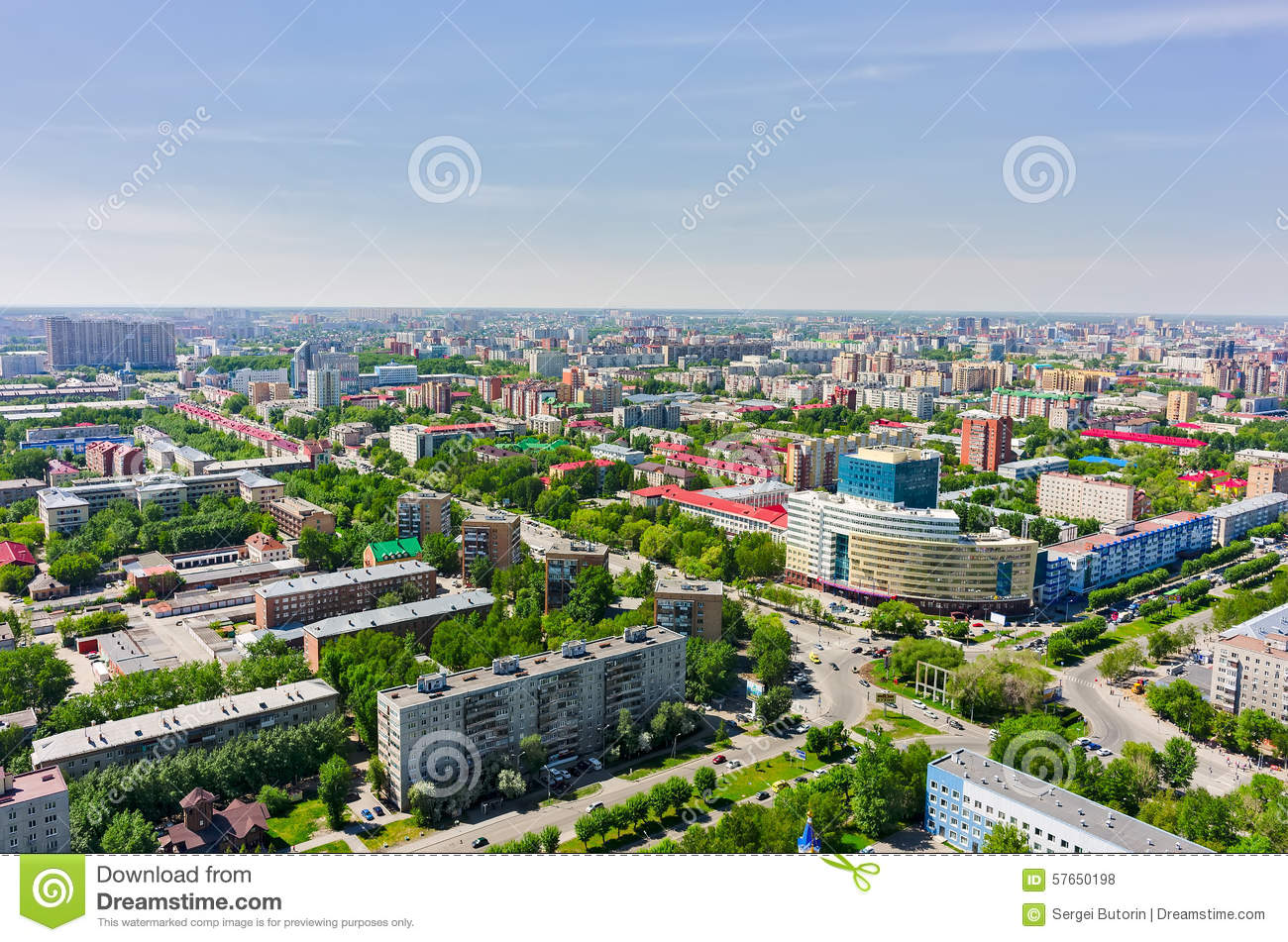 Tyumen Russia  city photos gallery : Tyumen, Russia May 25, 2015: Bird eye view onto Tyumen oil and gas ...