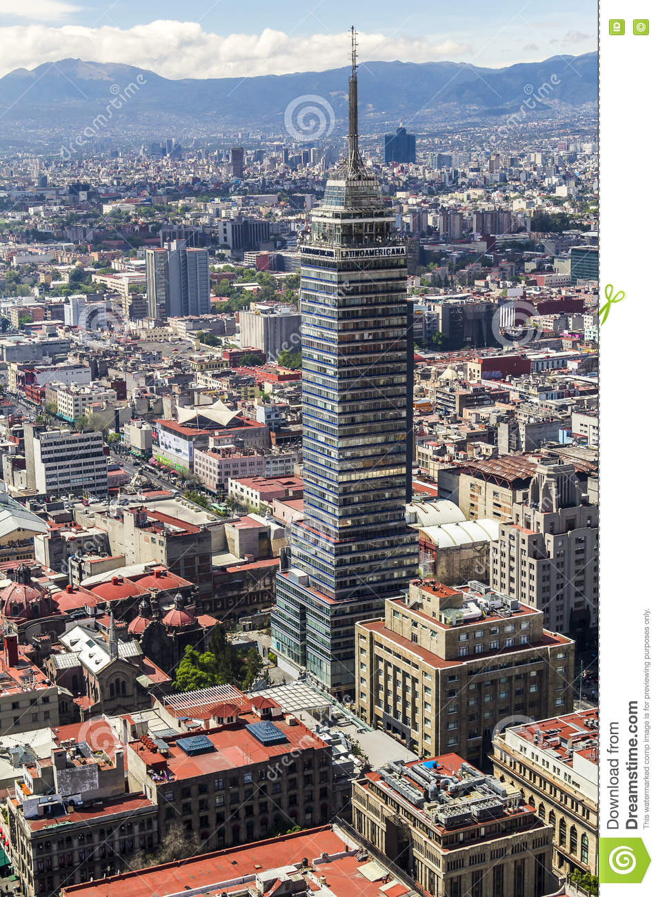 Aerial View Of Mexico City Latin American Tower Stock