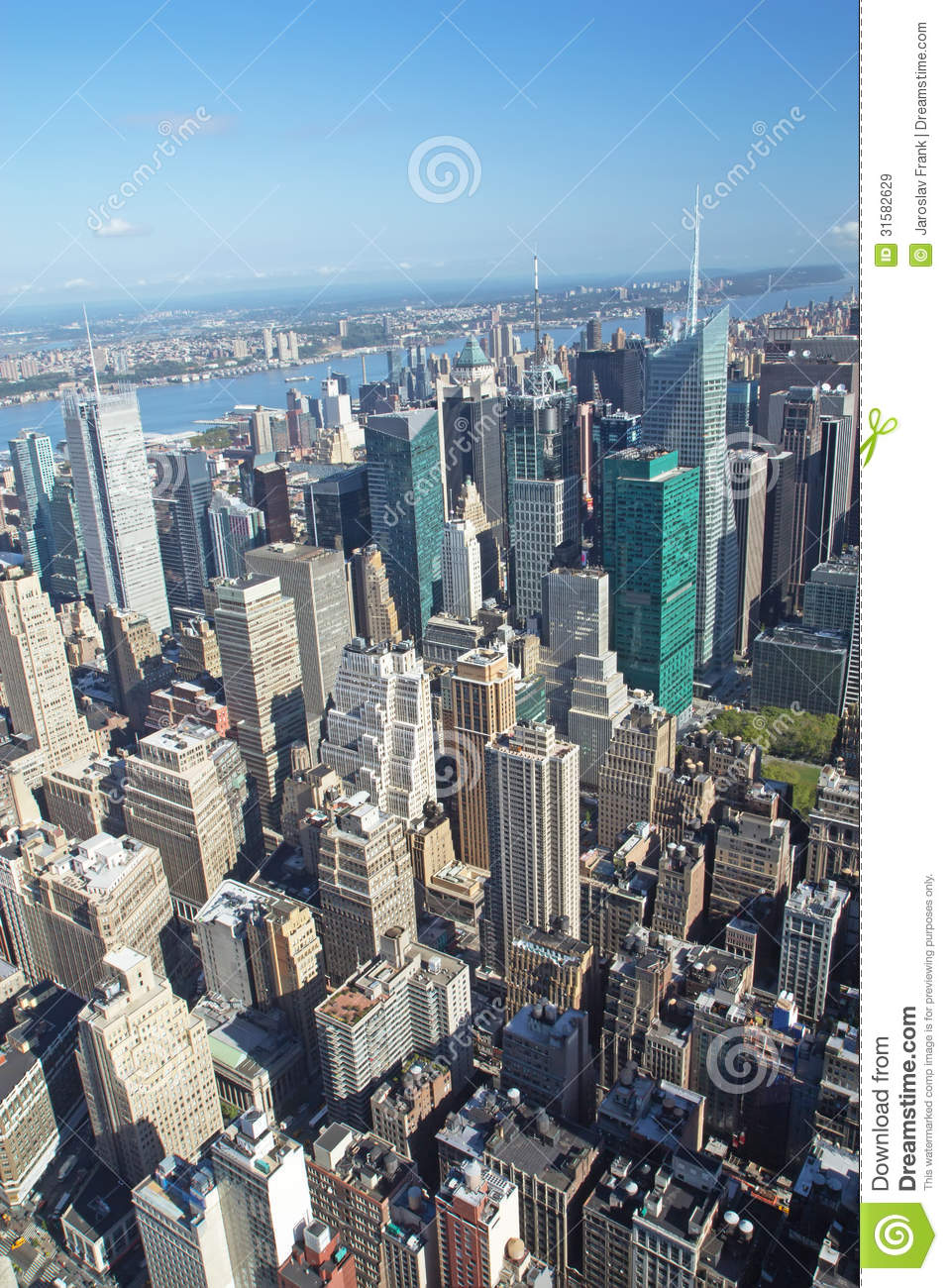 Aerial View Of The Midtown Manhattan New York City