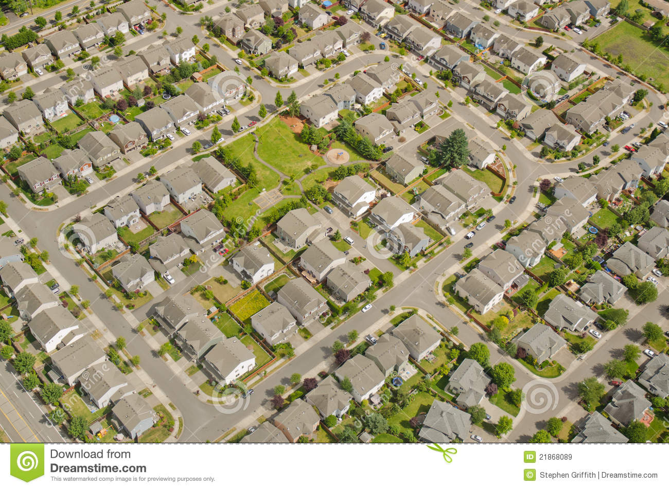 Aerial View Of Neighborhood Royalty Free Stock Images
