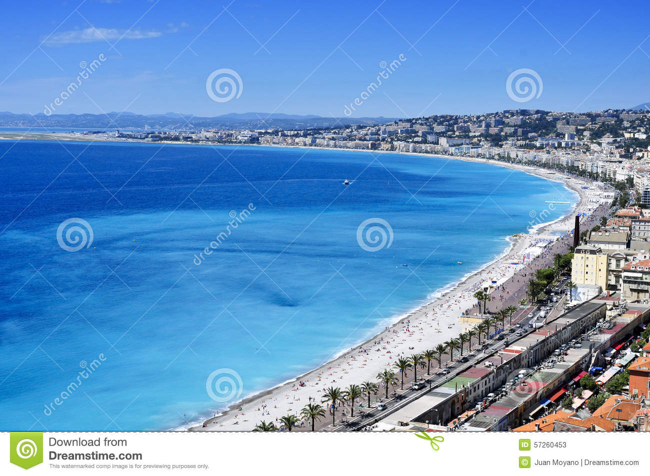 Aerial View Of Nice, France And The Mediterranean Sea