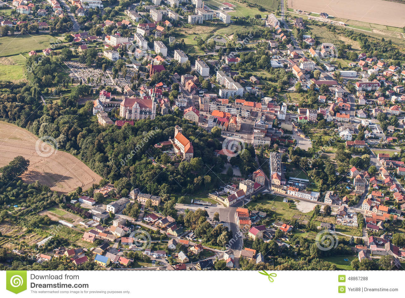 aerial view of nysa town in poland stock photo image vector signboard free download road sign vector image