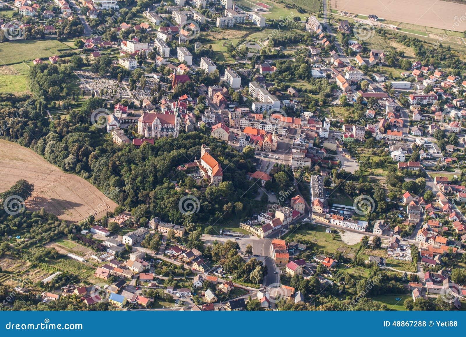 aerial view nysa town poland center 48867288
