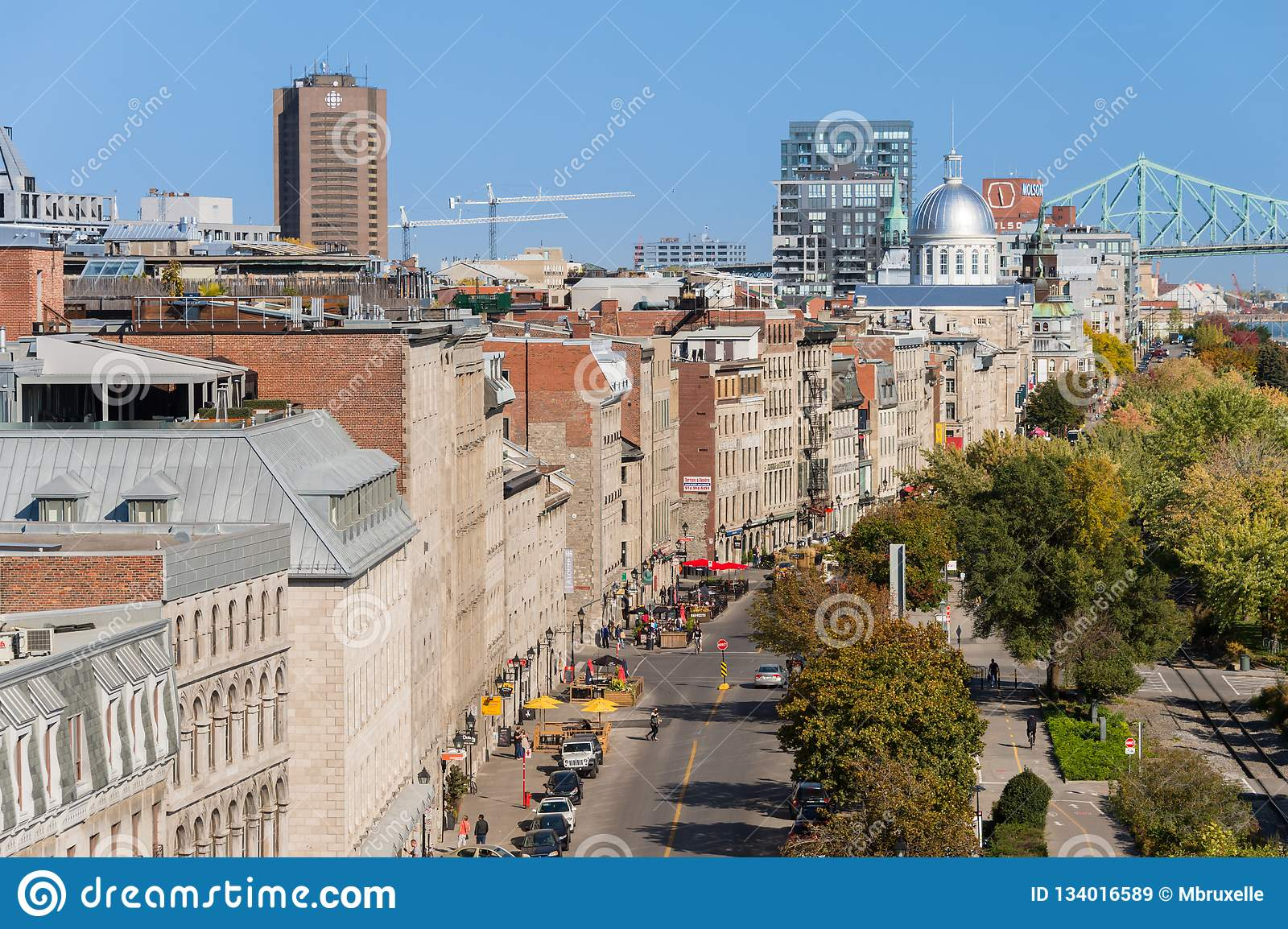 Aerial View of the Old Port of Montreal Editorial Stock Image ...
