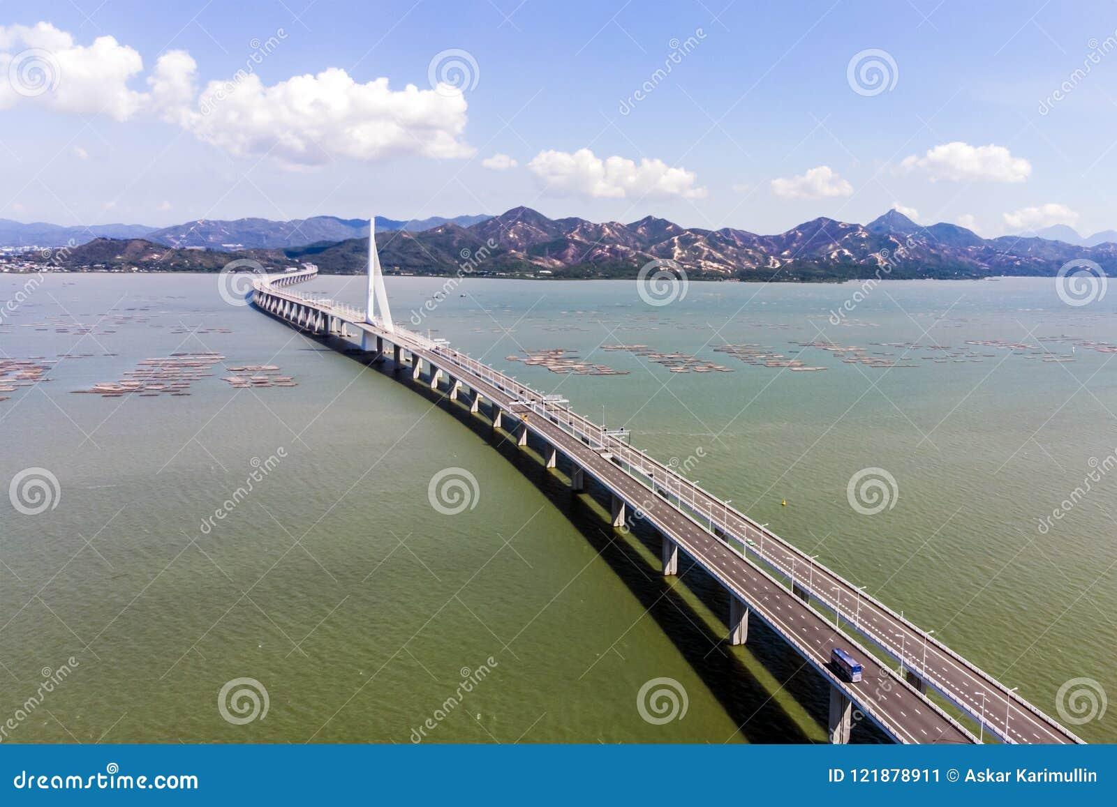 Bridge Of Houhai Bay To Hong Kong Island