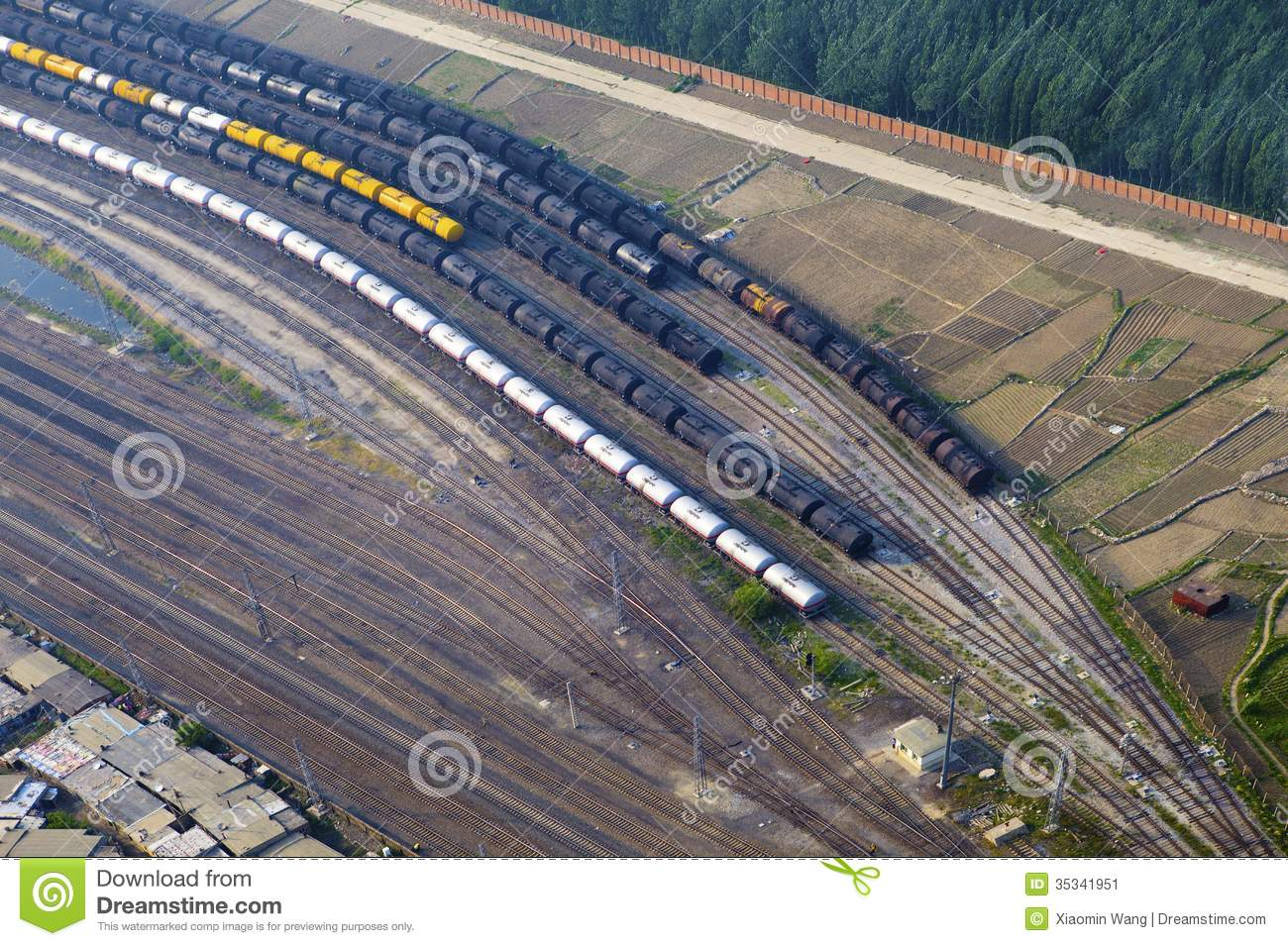 Aerial View Over The Railway Stock Image Image 35341951