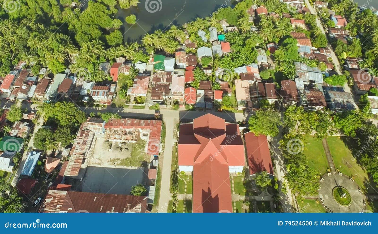 Aerial View Pablacio City Anda Bohol Stock Footage Video