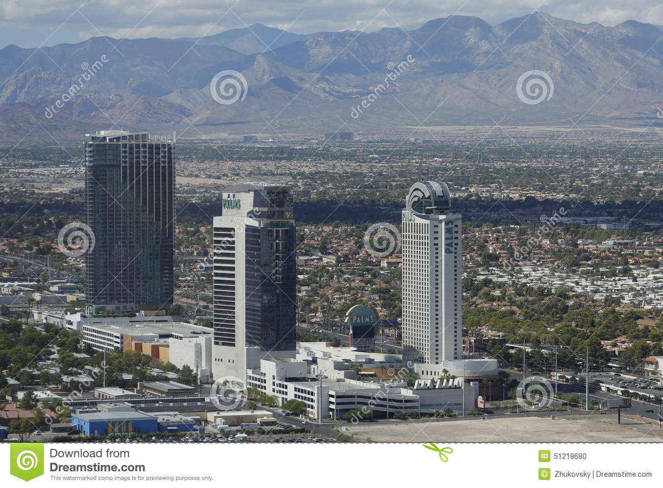 Aerial View Of The Palms Casino Hotel In Las Vegas Editorial Image