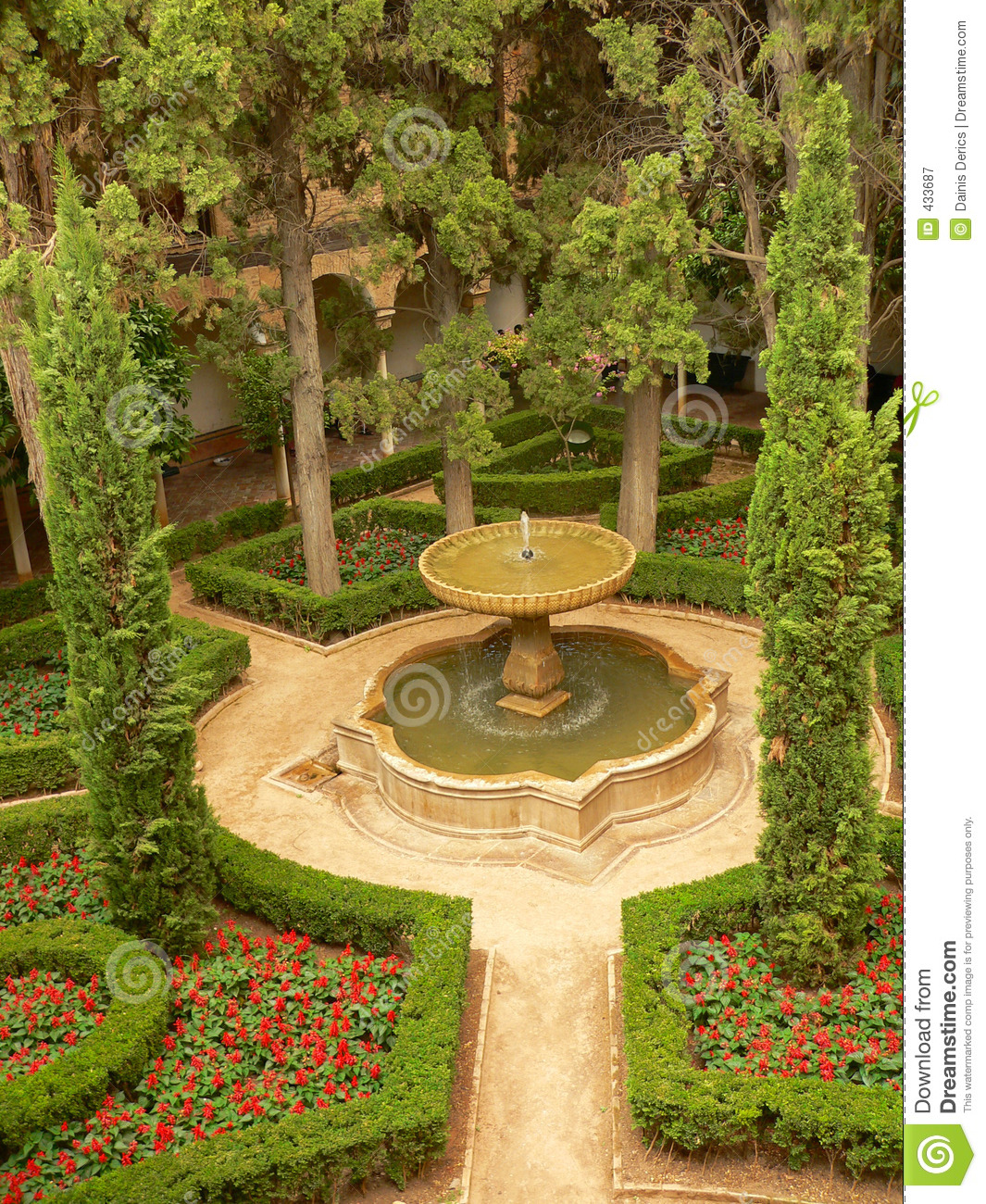 Alhambra Sage Granada Park Alhambra Ca: Aerial View Of Parc In Alhambra Royalty Free Stock