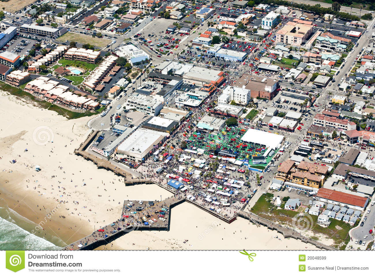 Aerial View Of Pier At Pismo Beach CA Stock Image Image Of - Pismo beach car show