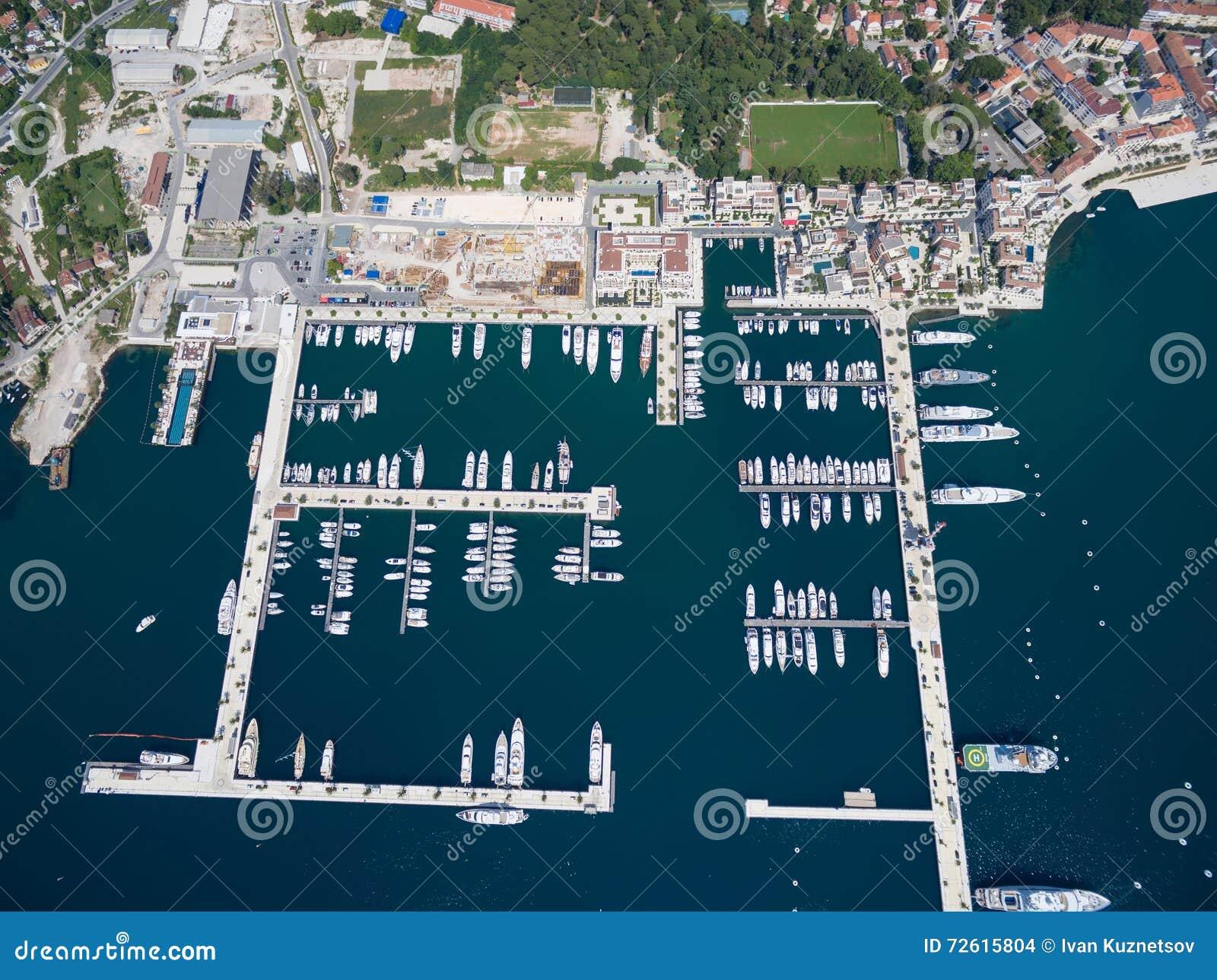 Porto Montenegro Karte.Aerial View Of Porto Montenegro Tivat City Stock Photo Image Of