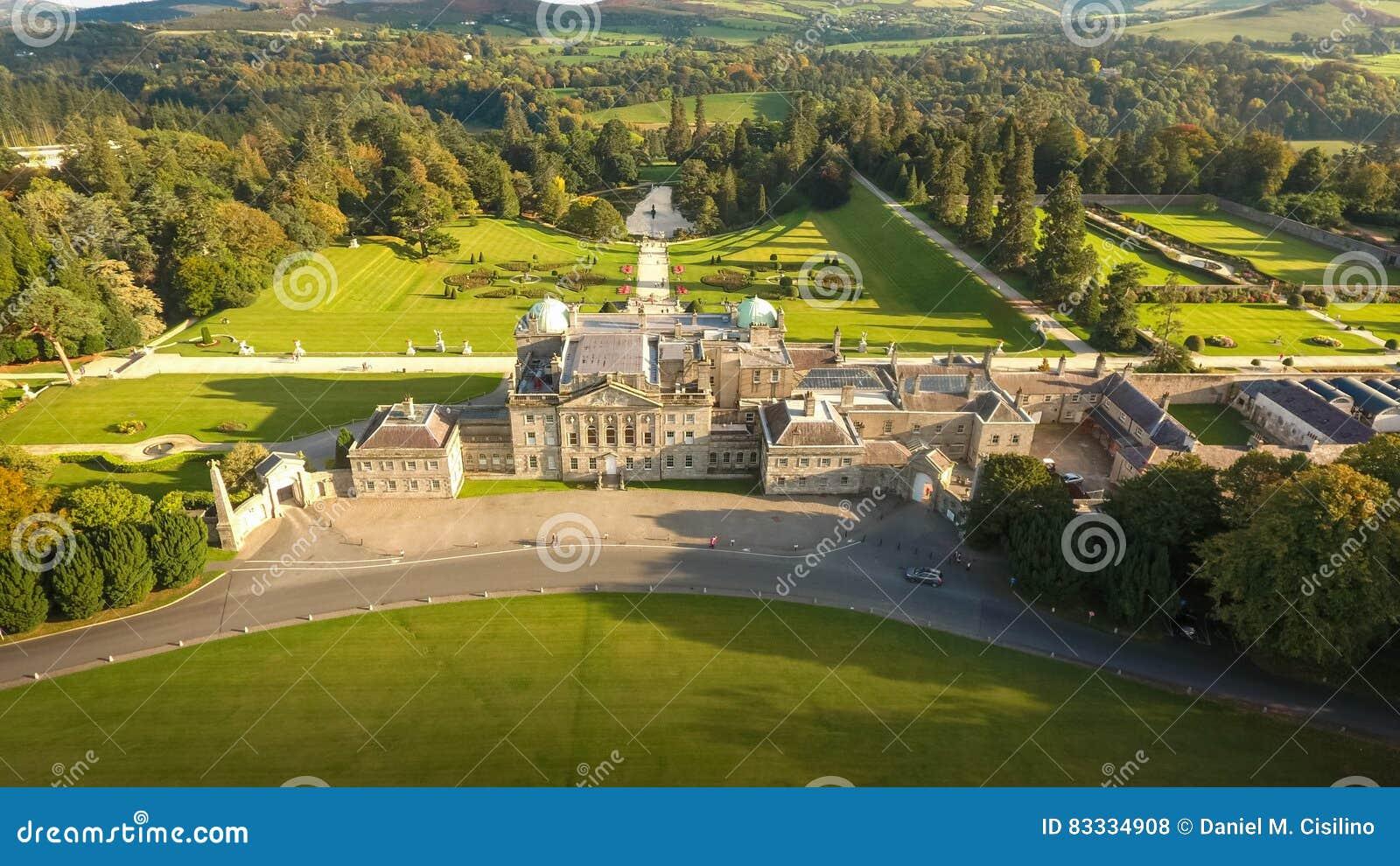 Aerial view. Powerscourt gardens. Wicklow. Ireland