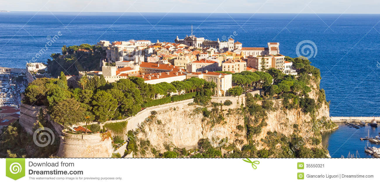 Aerial View Of The Princes Palace Monaco Stock Image