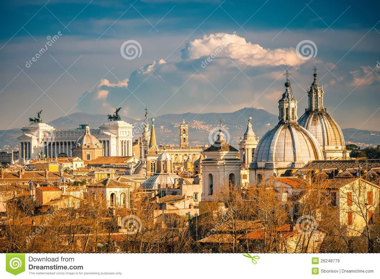 Aerial View Of Rome Stock Image Image Of Landmark