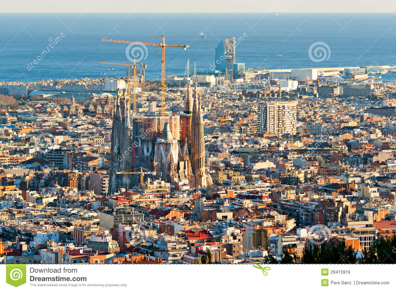Aerial View Of The Sagrada Familia Editorial Stock Image - Image: 29413919