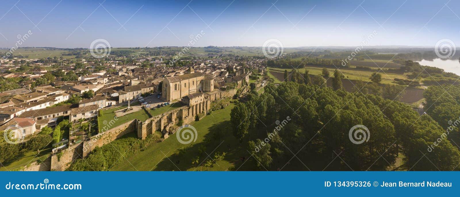 Aerial View Of Saint-Macaire, Bordeaux Region, Gironde ...