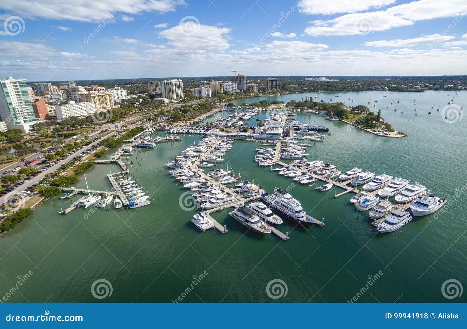 Aerial view of the Sarasota downtown, Florida.
