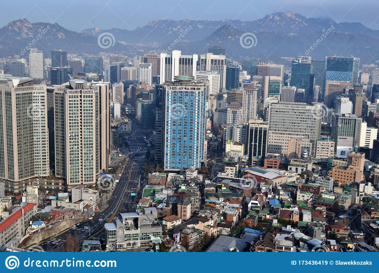 Aerial View Seoul South Korea Editorial Stock Image ...