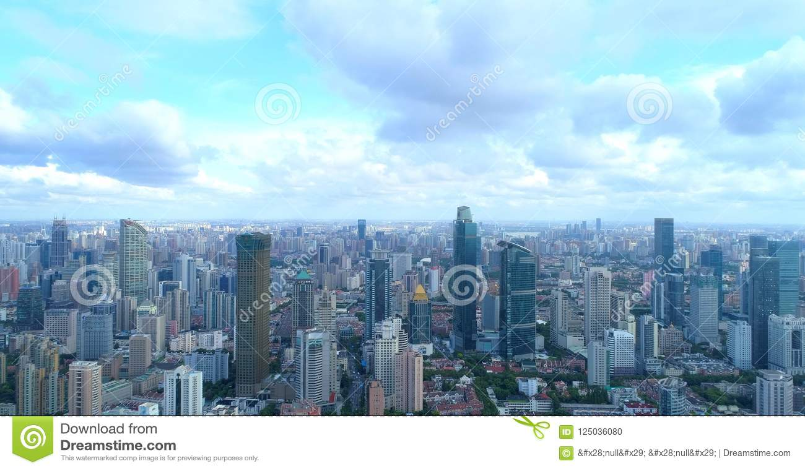 Aerial image of a megacity