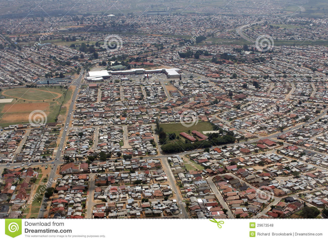 Aerial View Of Soweto, Johanneburg Royalty Free Stock Photos - Image ...