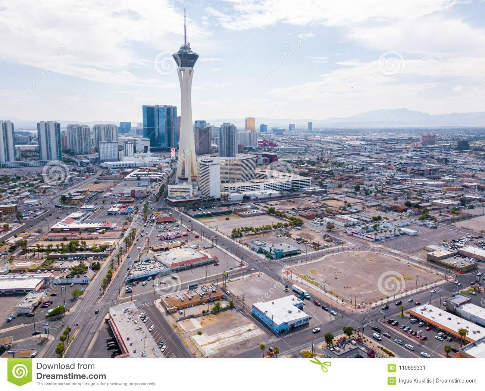 Stratosphere Hotel In Las Vegas Editorial Photo Image Of Entertainment Nevada 110699331
