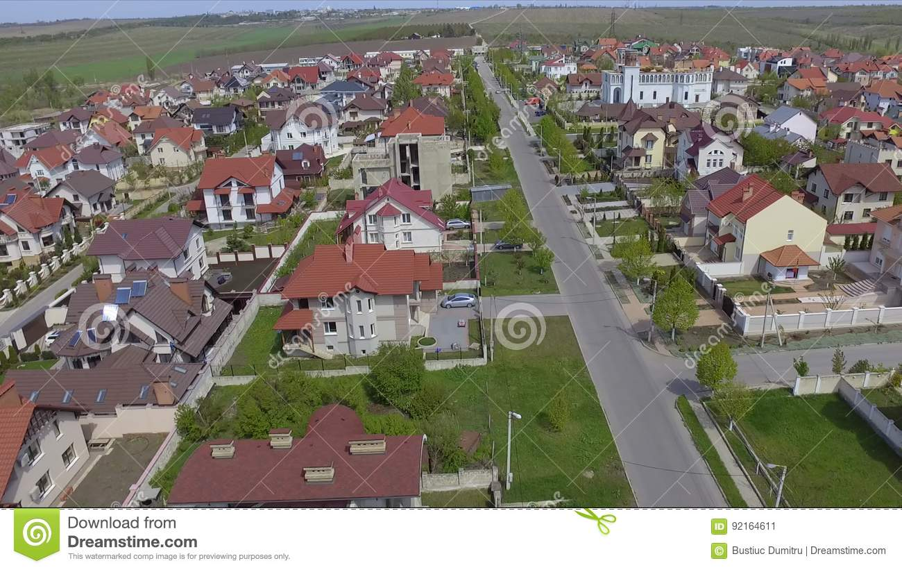 Beautiful Aerial View Of Suburban Bedroom Community In Chisinau, Moldova. Stock Video    Video Of Cluster, Rooftops: 92164611