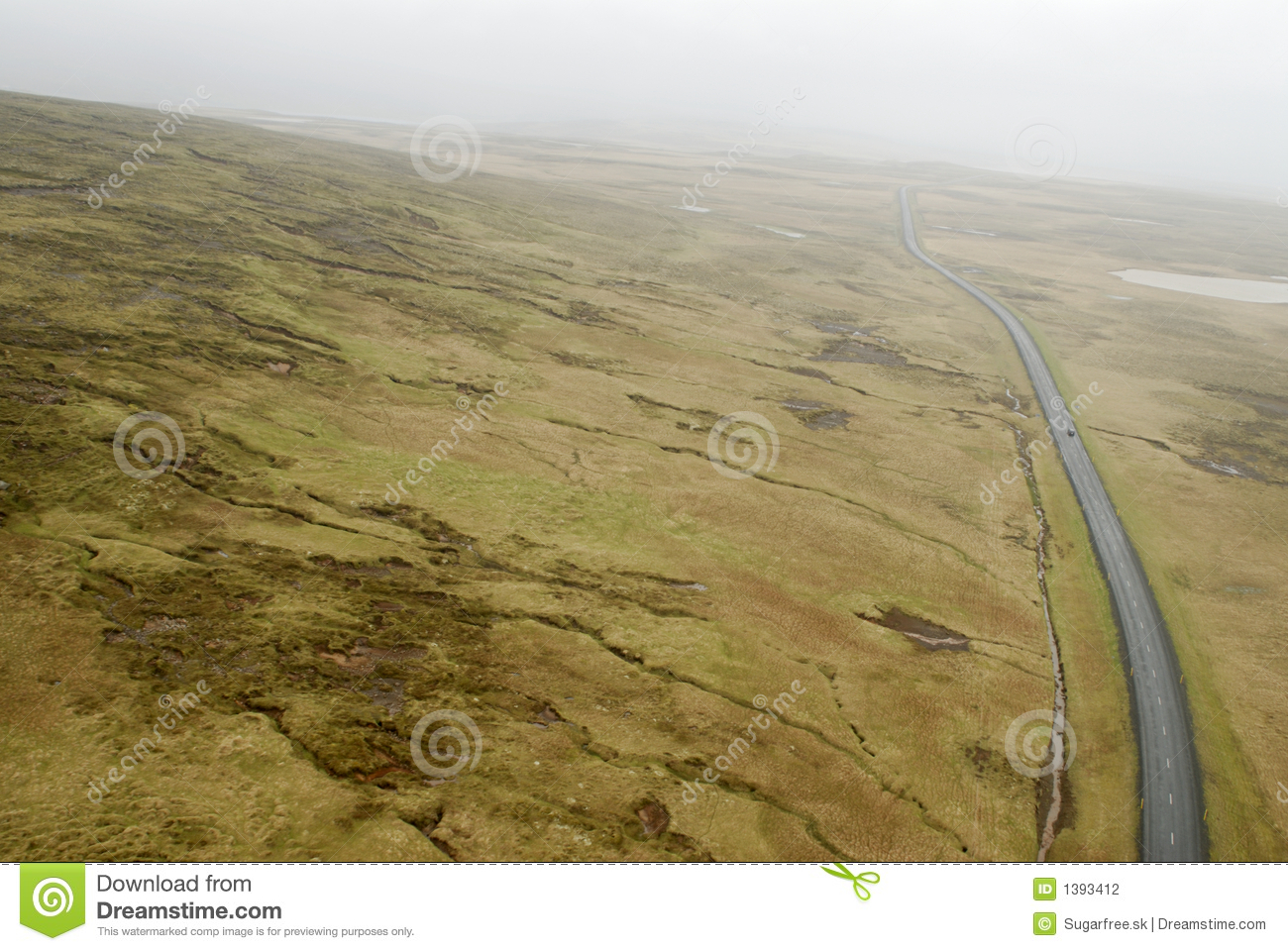 Aerial View To Road And Landscape Stock Photography - Image: 1393412