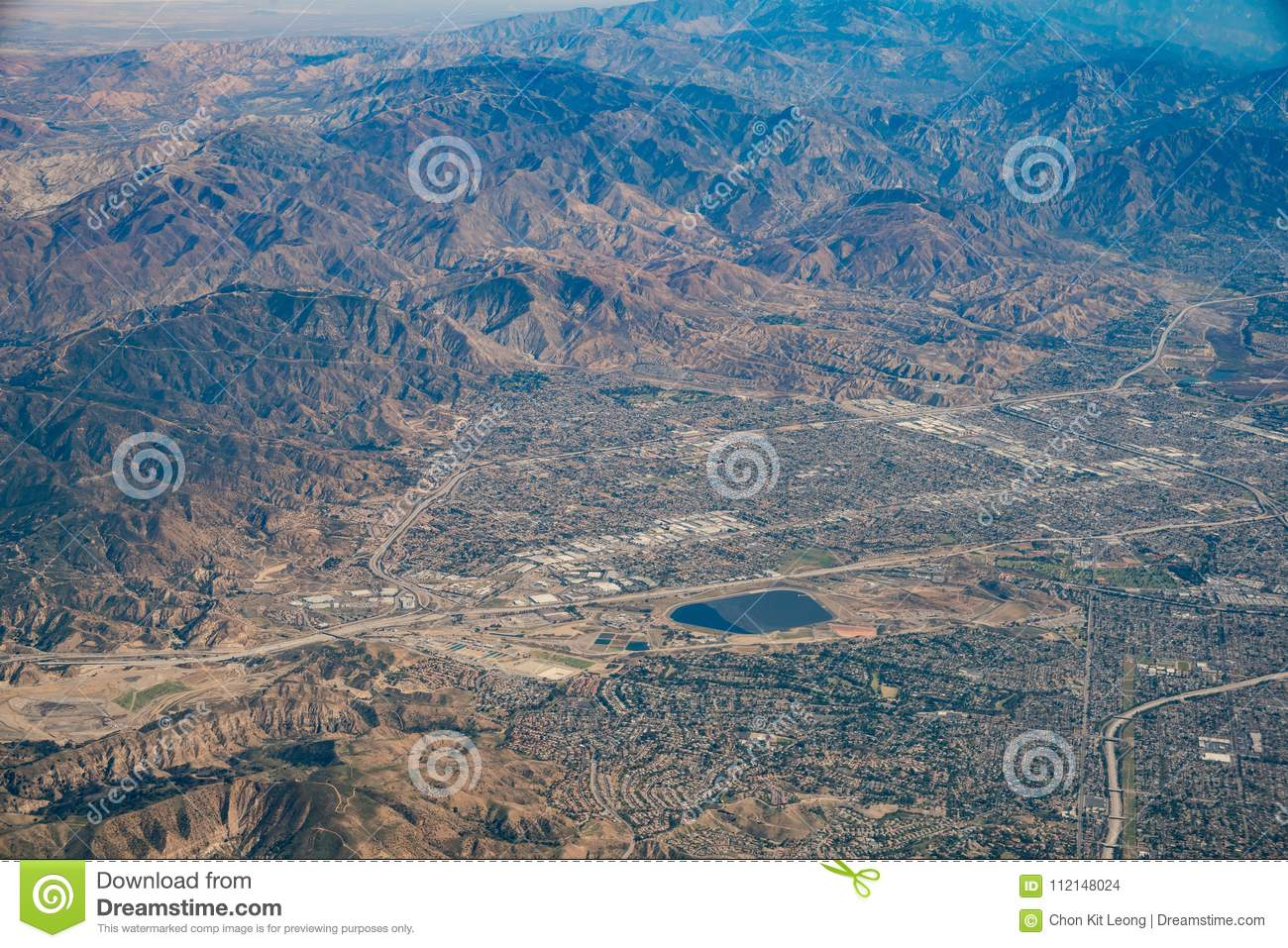 Aerial View Of Van Nuys, Sherman Oaks, North Hollywood