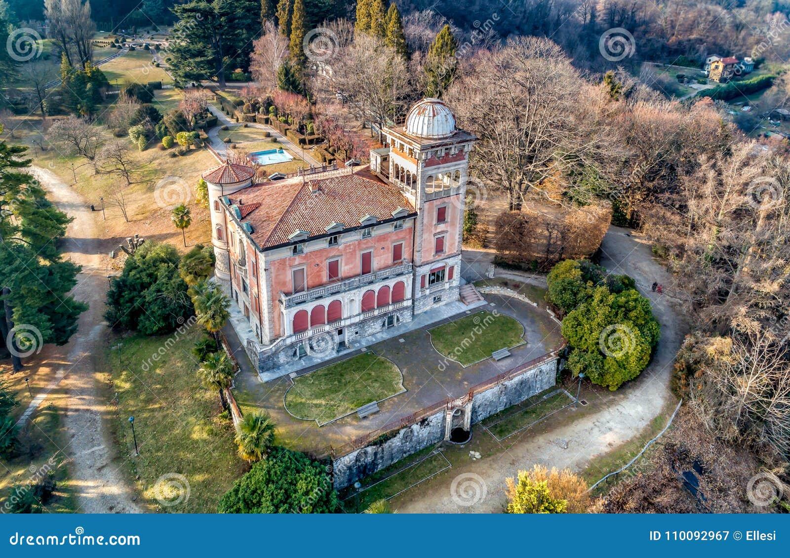 Aerial View Of Villa Toeplitz In Sant Ambrogio Of Varese ...