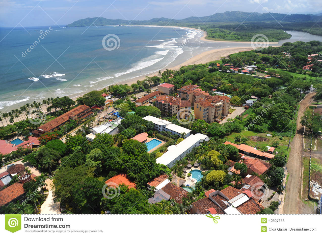 Aerial View Of Western Costa Rica Resorts Stock Photo