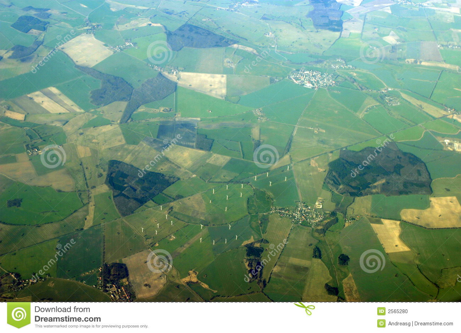 Aerial view - windmills