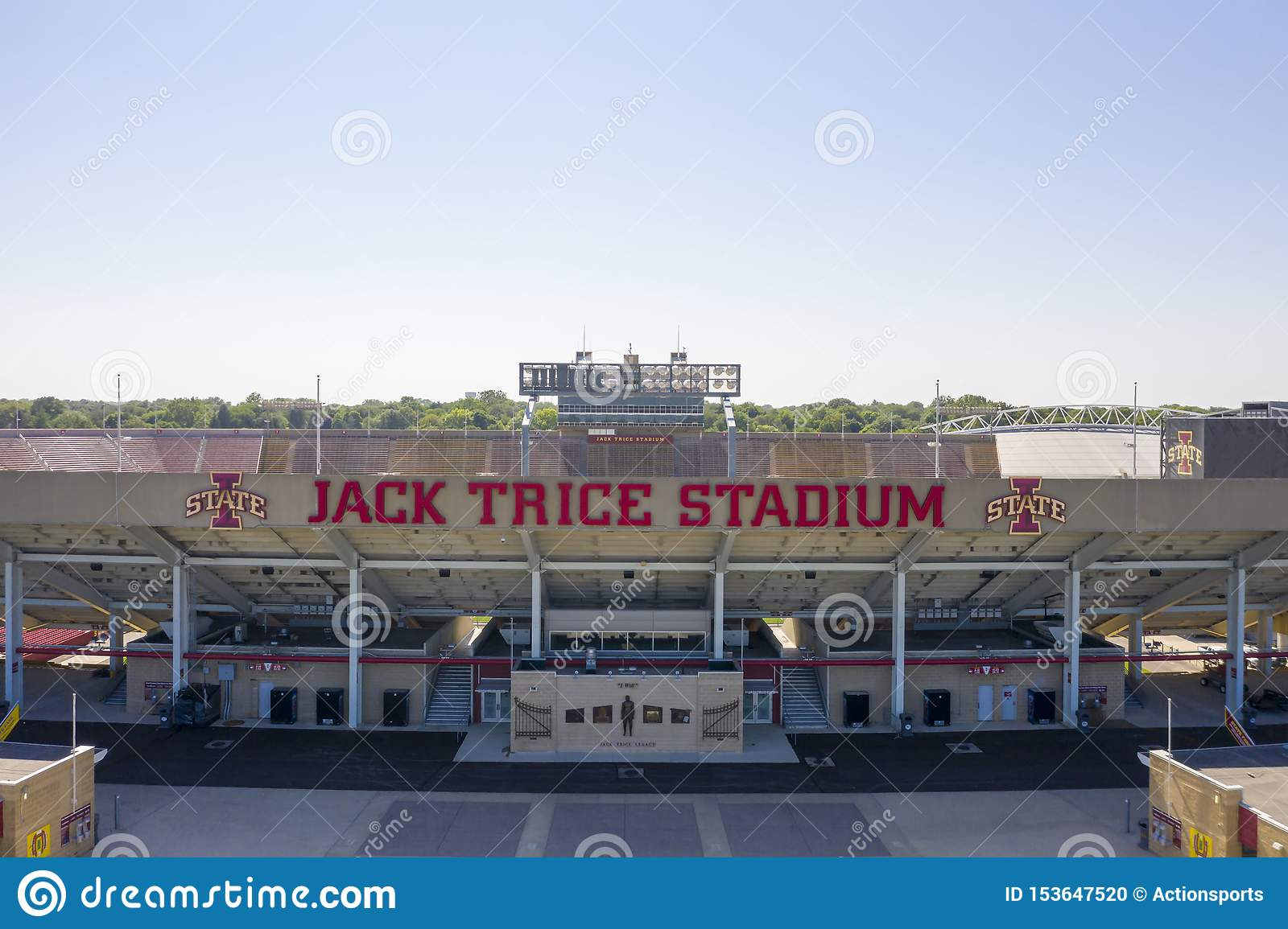 Aerial Views Of Jack Trice Stadium On The Campus Of Iowa State University