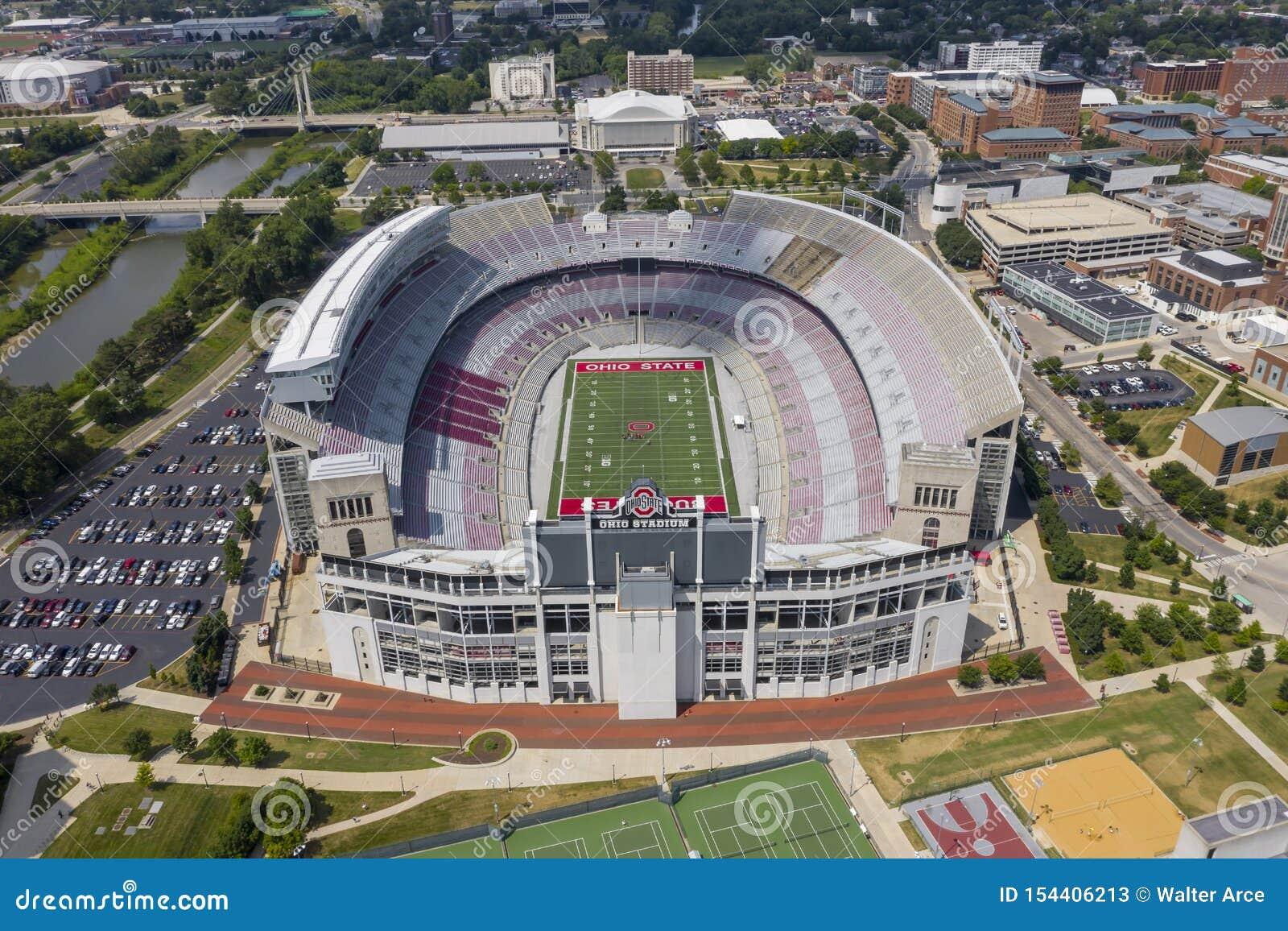 Aerial Views Of Ohio Stadium On The Campus Of Ohio State ...