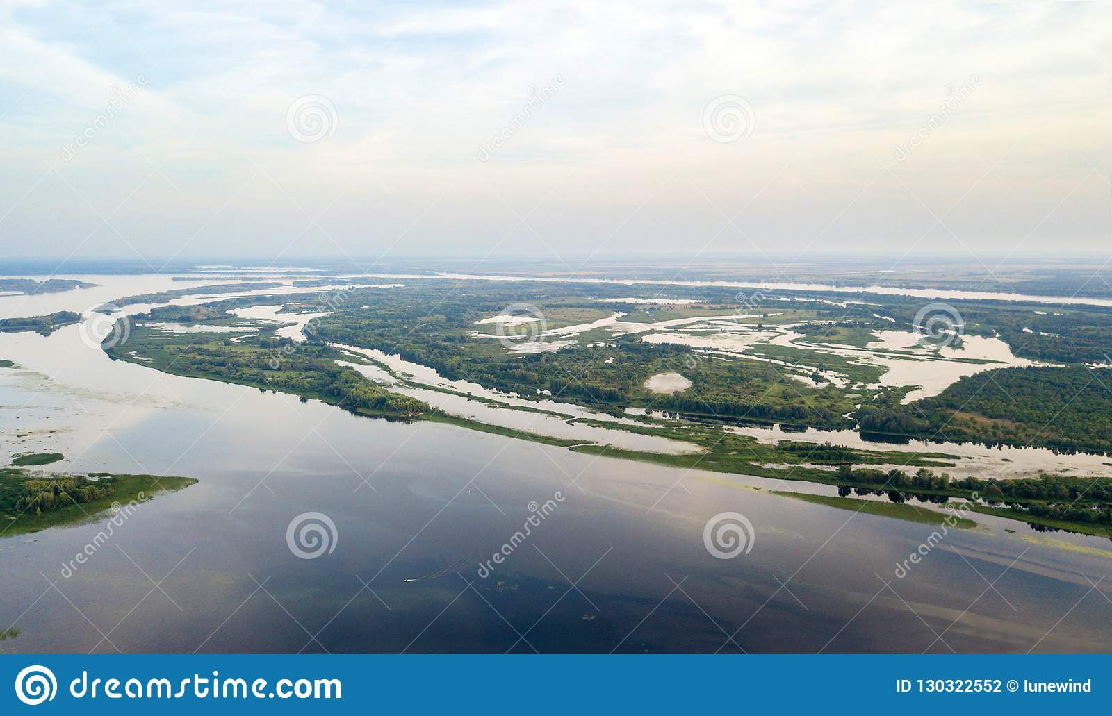 Aerial waterscape view