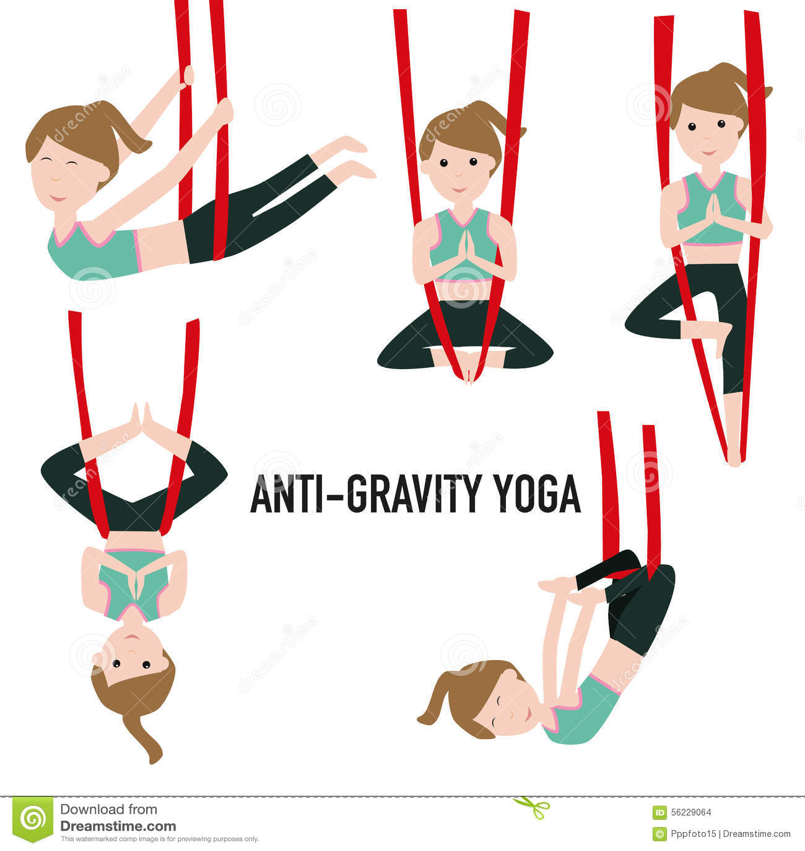 Aerial Yoga Aero Yoga Anti Gravity Yoga Stock