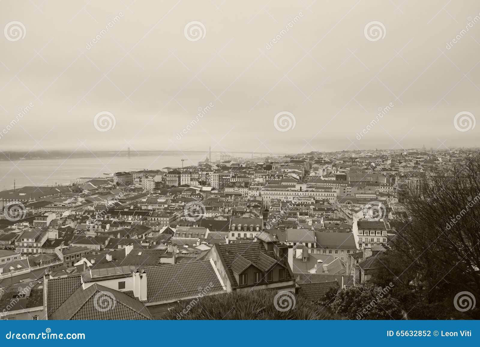 Aerielview de Lisbonne