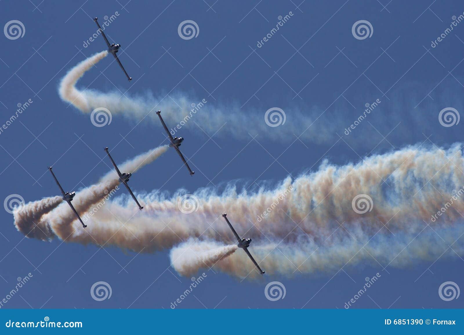 Aerobatic плоскости двигателя