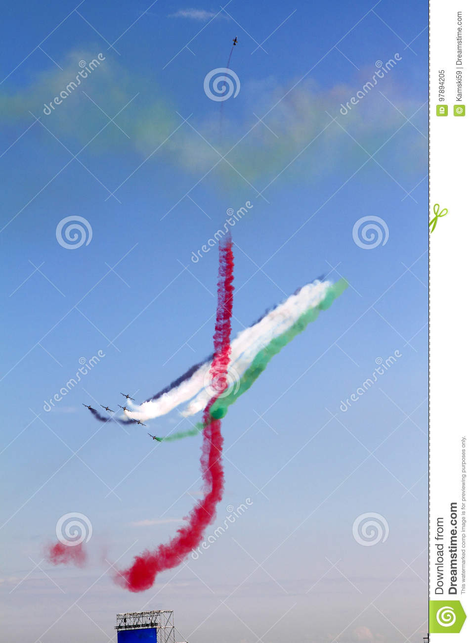Aerobatic display team from the United Arab Emirates at the International Aviation and Space Salon in Zhukovsky.