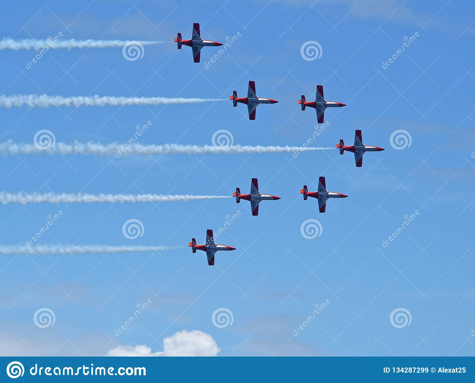 Aerobatic toont