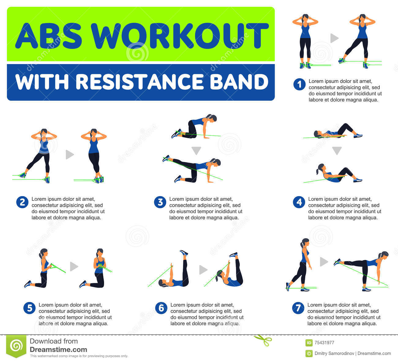 Abs Workout Stock Illustration Of Aerobic