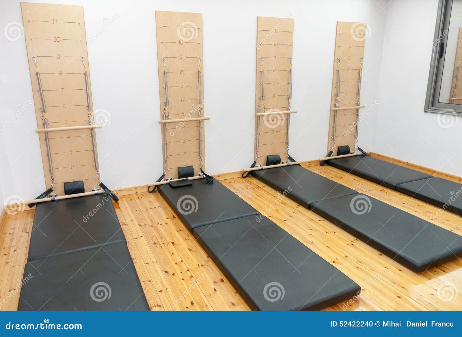 Aerobic Pilates room stock photo. Image of abdominal - 52422240