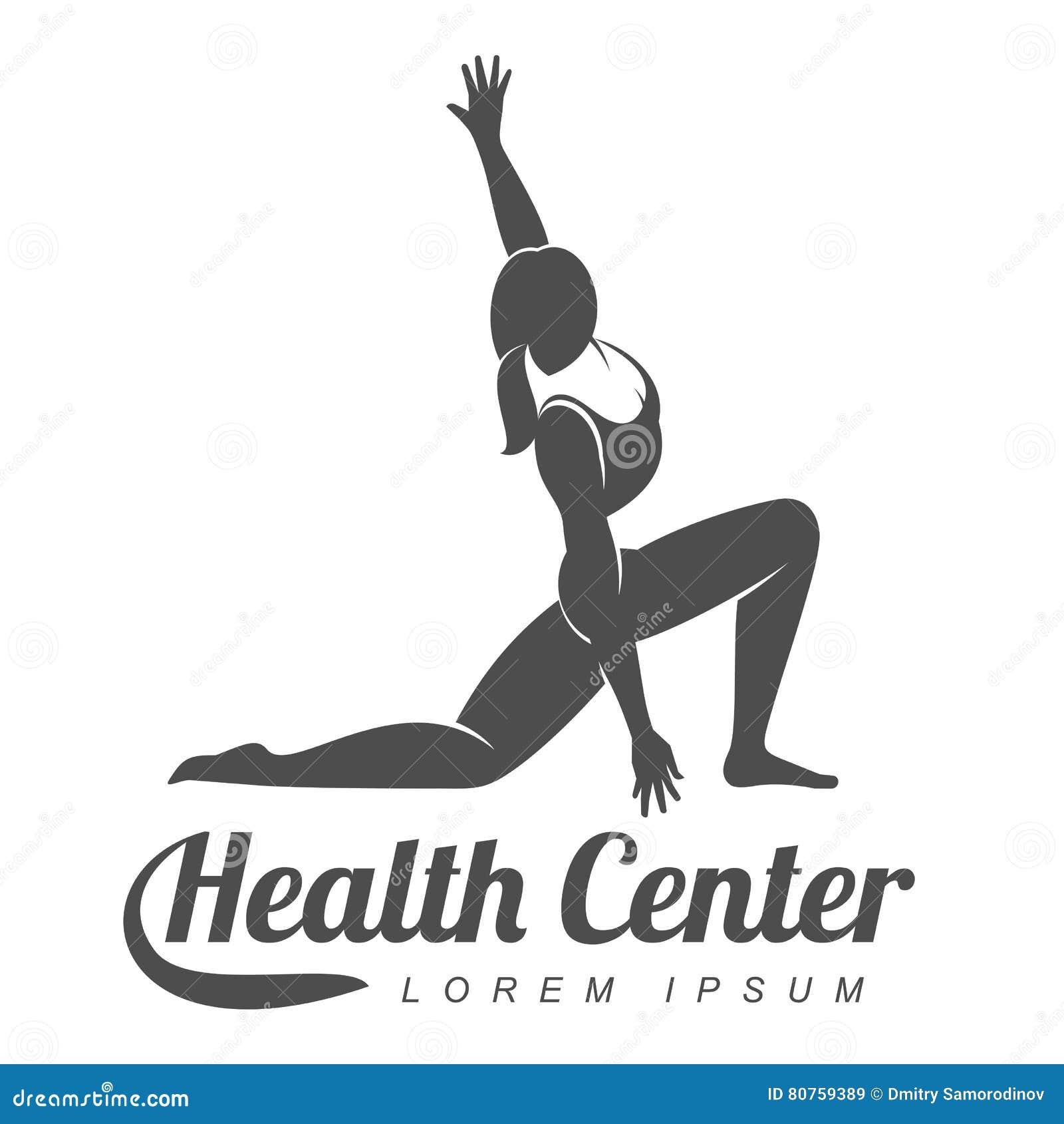 Aerobic Workout Logo Stock Photo