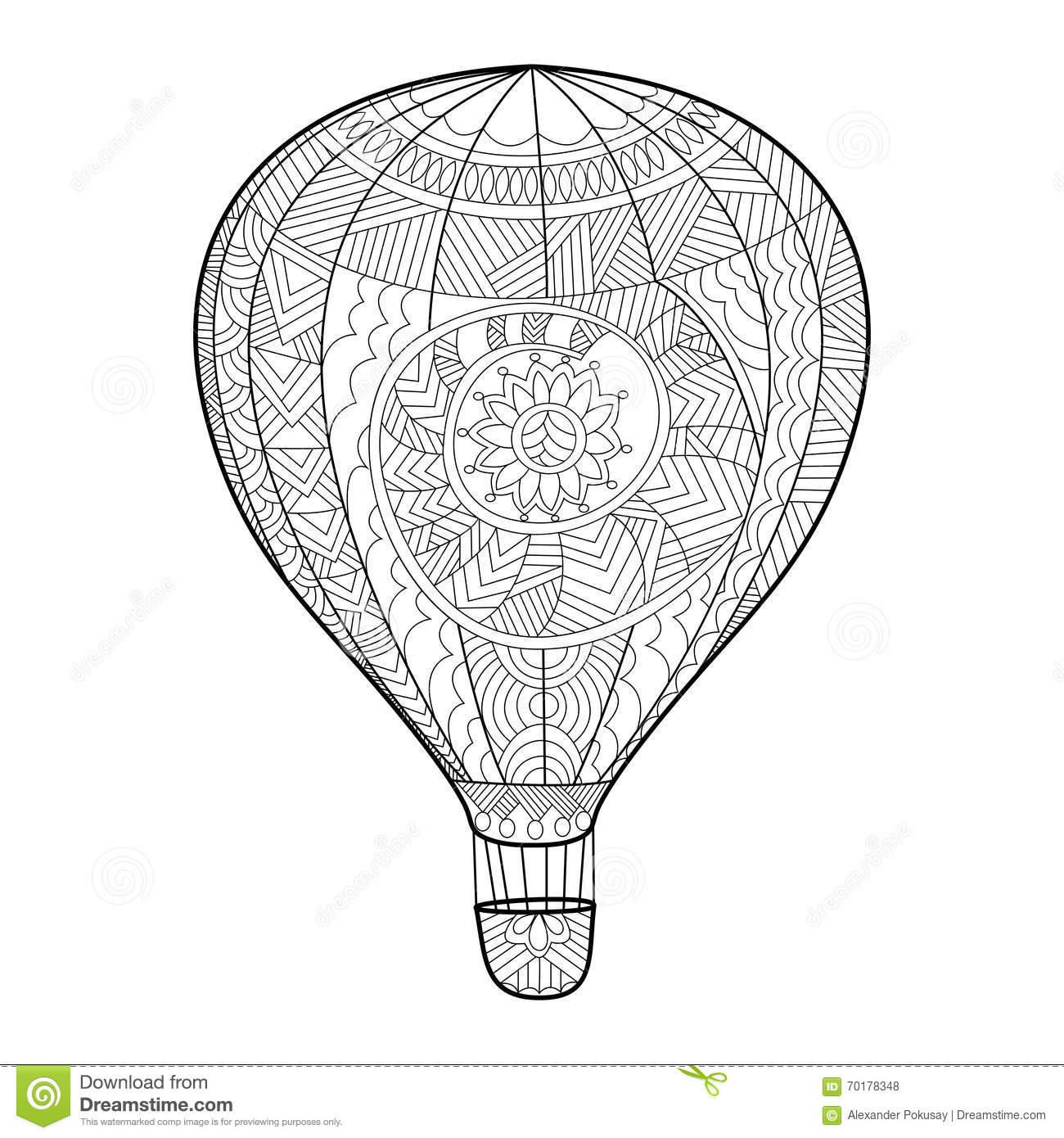 Hot air balloon and adult supervision