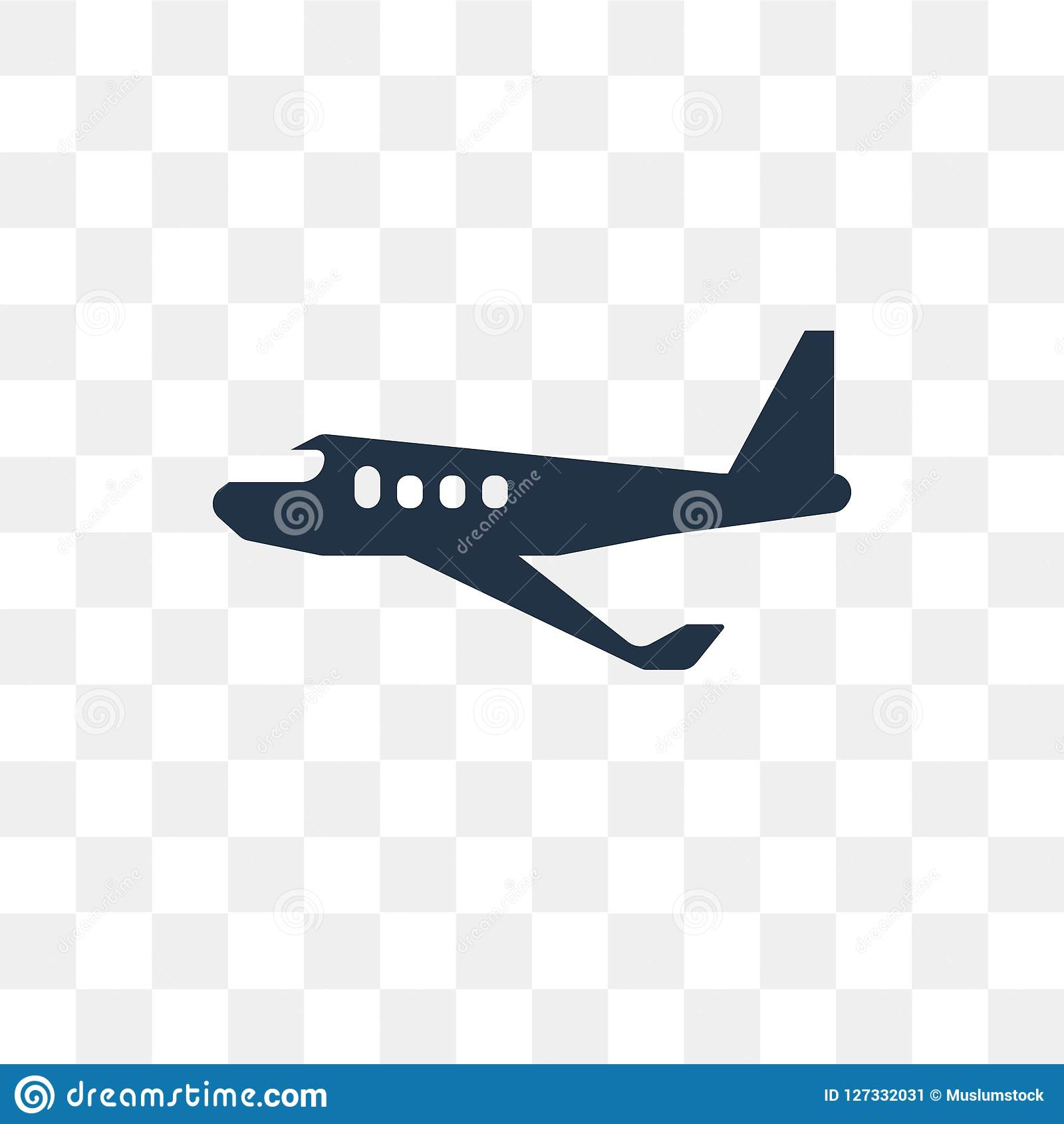 Aeroplane Vector Icon Isolated On Transparent Background